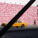 NEW YORK, Taxi Jaune et Graffitis Rouges