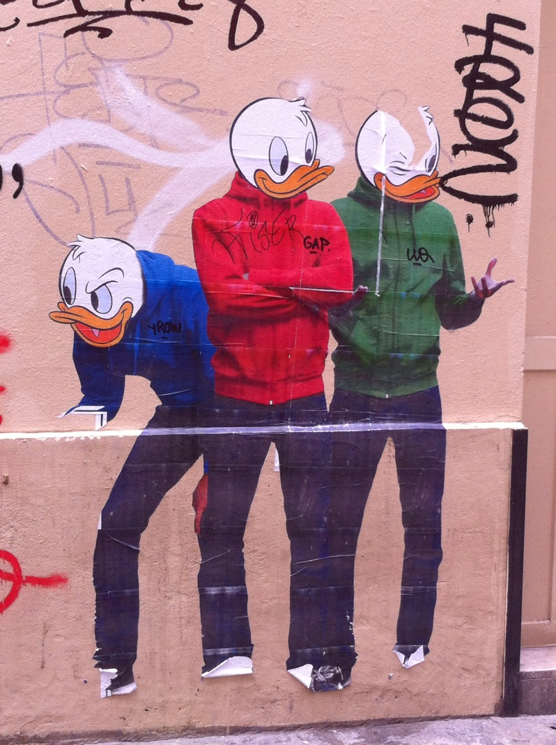 les neveux de donald collage street art beaubourg